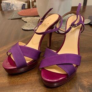 Brand new Kate Spade fashion high heels purple